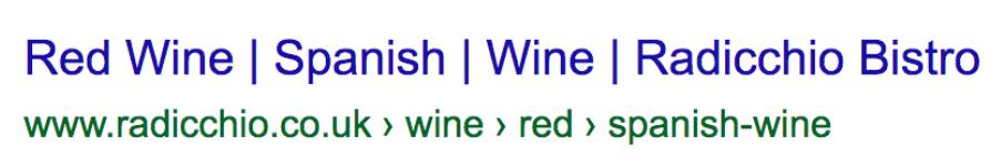 Red Wine Spanish Wine Radicchio Bistro